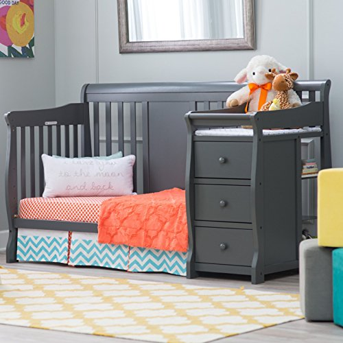 3 perfect convertible baby cribs with attached changing tables Baby crib with changing table